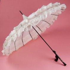 white black wedding parasol
