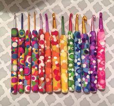 Polymer clay crochet hooks...
