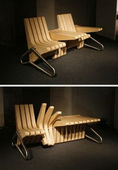 Versatile Table/bench. This Is So Innovative. I Think These