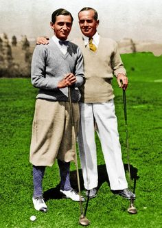 """Irving Berlin and Al Jolson golfing 1929 Cool Irving Berlin fact: Refusing to make money off his deep-seated patriotism, Berlin donated all the royalties from """"God Bless America"""" (just another little ditty he penned) to the Boy Scouts, Girl Scouts and Campfire Girls"""