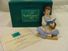 Walt Disney Classics Belle: WDCC Bookish Beauty Beauty and the Beast COA