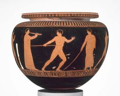 Bowl (dinos) depicting athletes training about 430–420 B.C. Manner of the Dinos Painter Greek Athletes | Museum of Fine Arts, Boston