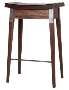 Moore  Giles Walnut Perch W Wrapped Leather Seat  Traditional, Leather, Wood, Stool by Harbinger