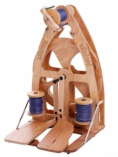 Trinity Ridge Alpacas Fiber Studio: Ashford Combo: JOY 2 w/ Sliding Hook Flyer, Double Treadle Spinning Wheel + Carry Bag