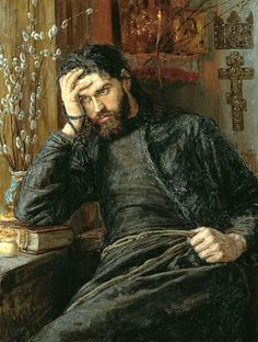 Savitsky, Konstantin (1844-1905) - 1897 Monk Inok.    Konstantin Apollonovich Savitsky was a Russian realist painter born in the city of Taganrog in the village Frankovka or Baronovka