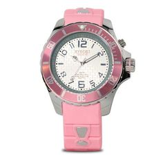 KYBOE! Silver Dawn 48mm Women's Watch  KYBOE! Silver Dawn 48mm Women's Watch The KYBOE! Silver Dawn features the beautiful pink hues of the rising sun. It's pink band and rotating bezel is complimented by a silver band, dial and accents. The Silver Dawn is part of the overall Power Collection - Silver Series, an impressive collection of silver-colored stainless steel watches with color-coordinating bands, bezels and dials. The Silver Dawn features Citizen - Miyota Quartz Movement, mi..