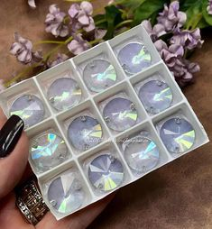 Swarovski Vintage 16mm Crystal Ice Button, Article 3200