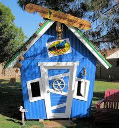 Surf Shack Luxury Outdoor Playhouse-Surf Shack Luxury Outdoor Playhouse,luxury playhouse for kids,affordable luxury playhouse,custom childs... #kidsoutdoorplayhouse