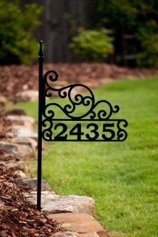 House Number Signs - Alpine Ascent - home address sign