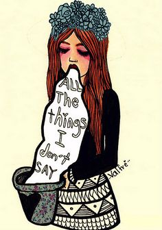 All The Things I Don't Say | von Valfrè <3