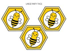 Free Bumble Bee Invitations | FREE Bumble Bee Party Printables from Printabelle | Catch My Party