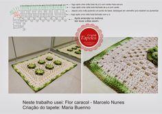 Gráfico do tapete verde - Flor Caracol - Crochê Tapetes