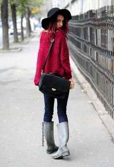 @roressclothes closet ideas #women fashion outfit #clothing style apparel Maroon Knitwear Outfit for 2015