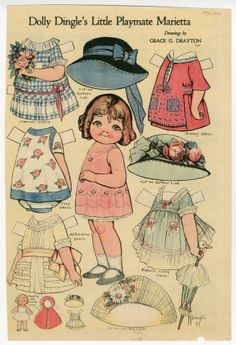 76.2943: Dolly Dingle's Little Playmate Marietta | paper doll | Paper Dolls | Dolls | Online Collections | The Strong