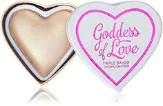 From 8.49 Makeup Revolution I Heart Makeup Blushing Hearts Highlighter- Golden Goddess