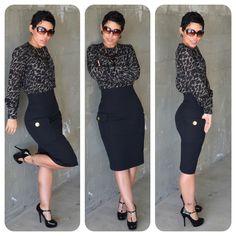 #DIY Pocket Pencil Skirt & #DIY Blouse + Pattern Review M6650
