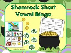 This makes a great Literacy Center or activity during RTI. Students will have fun reading words on shamrocks and finding the pictures that match on their Bingo Cards.