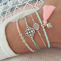 Have a nice & sunny weekend ♡ | www.mint15.nl  #weekend #haveaniceweekend #sunny #bracelets #armbanden #pastel #mint #ornament #tassel #beads #kralen #pink #prettypink #jewelry #handmade #ibiza #bohemian #ibizastyle #summer #spring #zomer #voorjaar #pastelkleur #kleuren