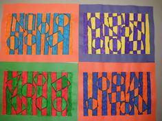 Cassie's Corner: 2nd Grade Op Art - Hidden Shapes