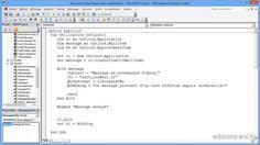 VBA Excel 2010 - Apprendre à programmer sous Excel - Communiquer avec Ou...
