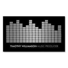 gray equalizer musician dj band business card musician business card dj business cards - Band Business Cards