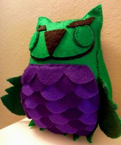 Avengers Hulk Owl Plush by CharacterCove on Etsy! Great geek gift!