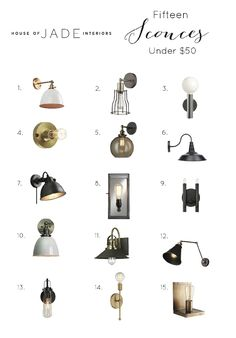 Photography: Becky Kimball Original Post Links We love using wall sconces wherever we can in spaces! Some of them can be rather pricey so we've searched high and low for our favorite fixtures that are under $50. 1   2   3   4   5   6   7   8   9   …