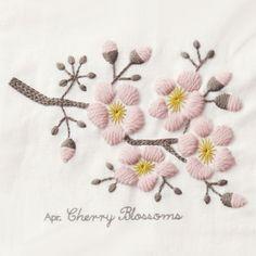 桜 / cherry blossoms / needlework