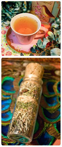 absinthe tea - herbal tea of wormwood, licorice, anise and mint - organic, fair trade loose herbal tea bursting w/old world charm