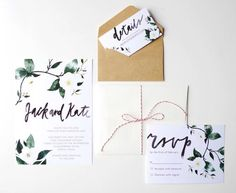A lush, floral wedding invitation suite, perfect for the bride looking for a…