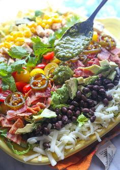 Southwestern Cobb Salad with Spicy Cilantro Lime Vinaigrette from @cookiesandcups