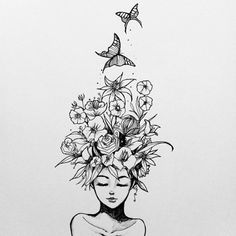 … - - Laub b & b. … – – -Laub b & b. … - - Laub b & b. … – – - La imagen puede contener: dibujo Unique 30 sunflower small tattoos design ideas for women Girl With Coffee Cup - Miscellaneous Vectors - - 45 Wonderful Butterfly Tattoo Idea. Tattoo Sketches, Drawing Sketches, Drawing Tips, Drawing Drawing, Cool Tattoo Drawings, Drawing Ideas, Doodle Art, Pencil Art Drawings, Future Tattoos