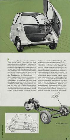 1/2 - BMW Isetta 1960 brochure (left side).