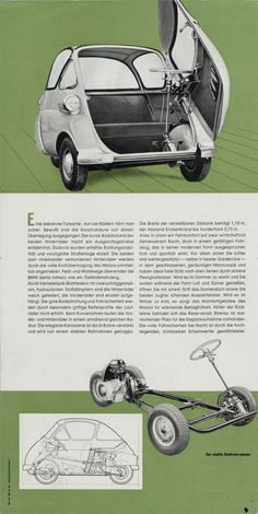 1/2 - BMW Isetta 1960 brochure (left side).