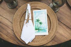 Papelaria do casamento coordenando com o tema. Casamento na praia, leve, lindo e elegante. Foto: Nelson Neto