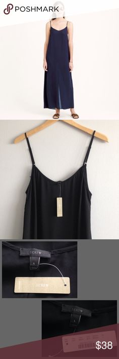 32cec57f8a J. Crew Black Crepe Maxi Dress Color  Black. Please see photos for  measurements. Measurements are approx in length as the straps are  adjustable J. Crew ...