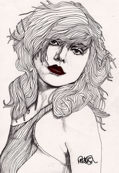 Debbie with Red Lips Original Signed Paul by ExpeditionaryClub