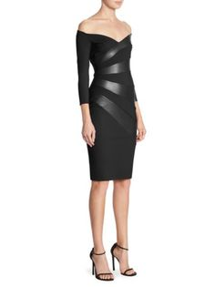 Chiara Boni La Petite Robe - Off-the-Shoulder Knee-Length Dress