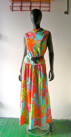 60s mod psychedelic palazzo pant ensemble   by CoolVintageFinds, $29.00