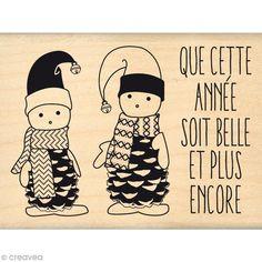 Achetez à prix mini le produit Tampon Noël - Fantaisies Nordiques - Petits lutins - 6 x 8 cm - Livraison rapide, offerte dès 49,90 € !
