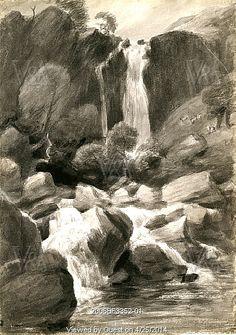 Taylor Ghyll, by John Constable. Borrowdale, England, 1806