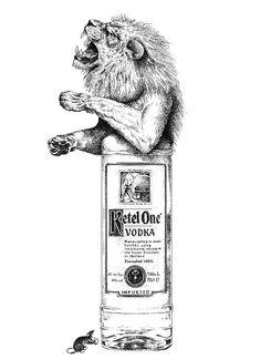No.4: Ketel One Vodka, Holland.  Part of a series of illustrations for Revolution Vodka Bars demonstrating the provenance of their range of Premium Vodka's.