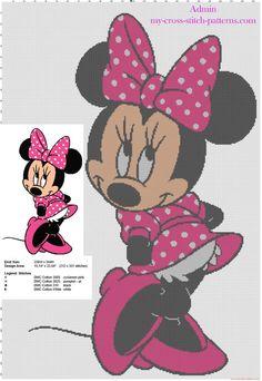 Schema ricamo punto croce arazzo con Disney Minnie