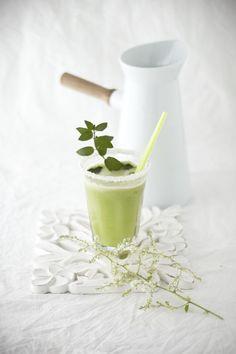 Limonada de manzana verde y menta