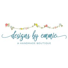 Premade Logo - Flower Bunting Premade Logo Design - Customized with Your Business Name!
