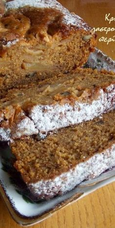 Νηστίσιμο κέικ μήλου στο μπλέντερ ή στο multi! - cretangastronomy.gr Apple Cake Recipes, Sweets Recipes, Cookie Recipes, Greek Sweets, Greek Desserts, Vegan Sweets, Healthy Sweets, Greek Cake, Desert Recipes