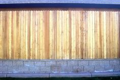 Retaining Wall w/ Fence on top