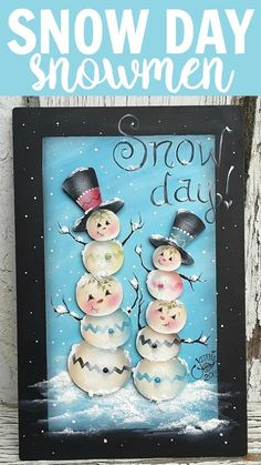 These quirky little snowmen are having a great time on a snow day, as will you…