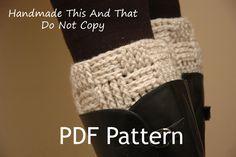 Crochet Pattern - Womens boot cuff, leg warmers, boot socks, boot toppers - Basketweave/checker boot cuffs. $5.00, via Etsy.