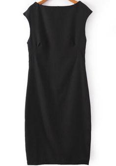 Shop Black Boat Neck Sleeveless Slim Bodycon Dress online. Sheinside offers Black Boat Neck Sleeveless Slim Bodycon Dress & more to fit your fashionable needs. Free Shipping Worldwide!